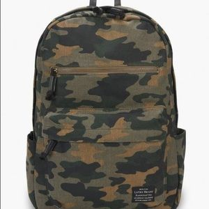Lucky brand camo canvas backpack